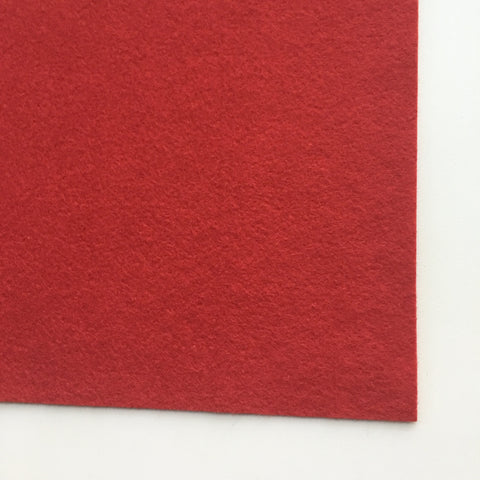 Red Wool Blend Felt