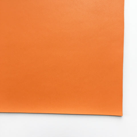 Orange Smooth Vegan Faux Leather