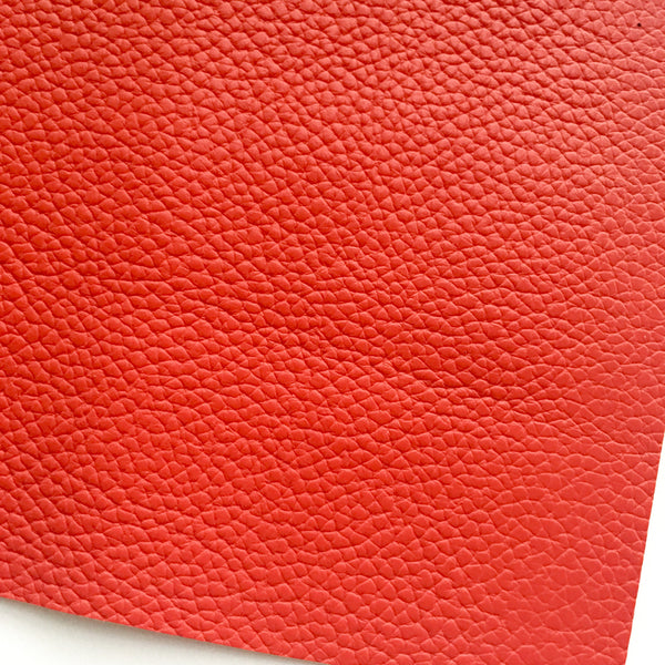 Red Textured Faux Leather