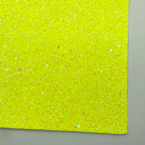 Neon Yellow Frost Premium Glitter Fabric Sheet
