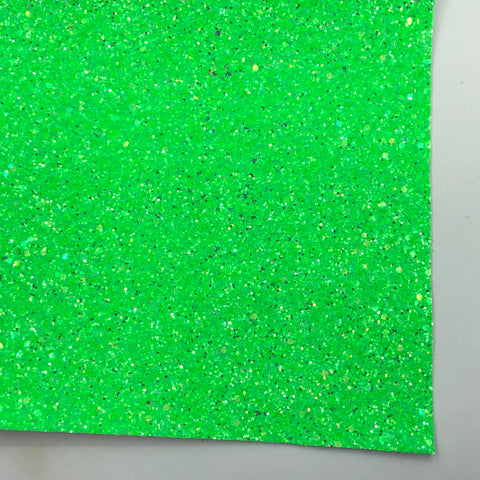 Neon Green Frost Premium Glitter Fabric Sheet