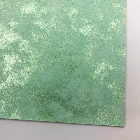 Mint Metallic Patina Smooth Faux Leather