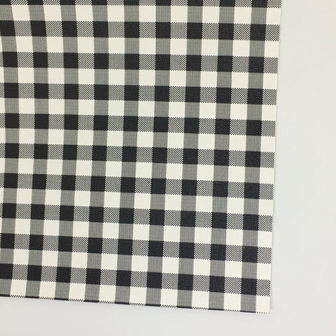 Small White Buffalo Plaid Faux Leather