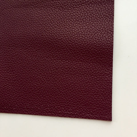 Port Wine Textured Faux Leather