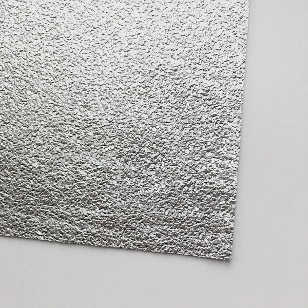 Druzy Silver Textured Faux Leather