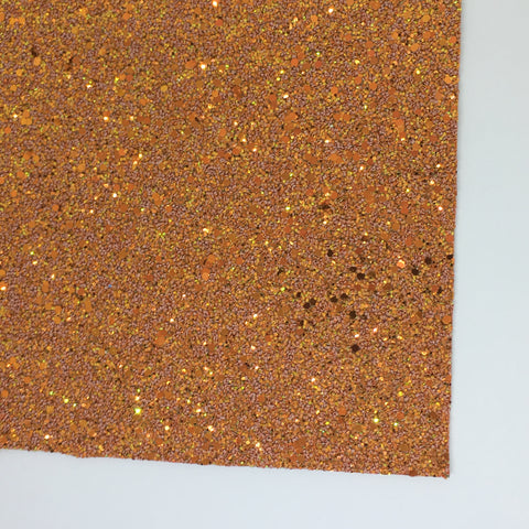 Harvest Pumpkin Specialty Glitter Fabric Sheet