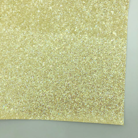 Buttercream Shimmer Premium Glitter Fabric Sheet