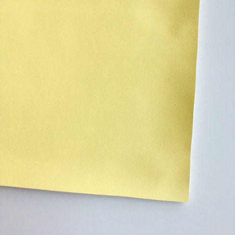 Pale Yellow Vegan Faux Leather