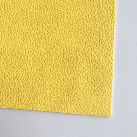 Banana Yellow Textured Faux Leather