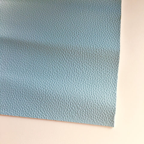 Pale Blue Textured Faux Leather