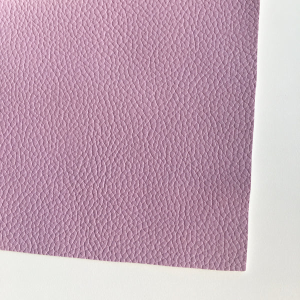 Pale Heather Textured Faux Leather