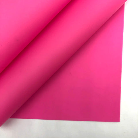 Hot Pink Jelly Faux Leather