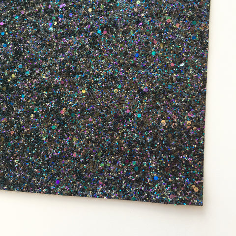 Deep Space Specialty Glitter Fabric Sheet
