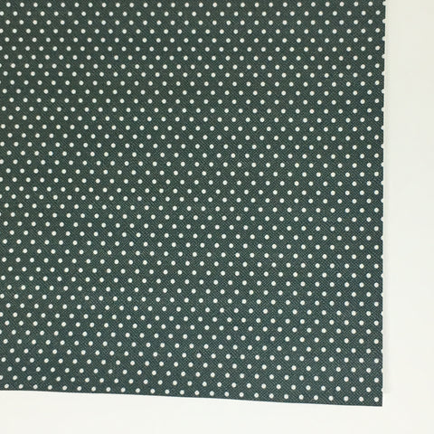 Hunter Green with White Polka Dot Faux Leather