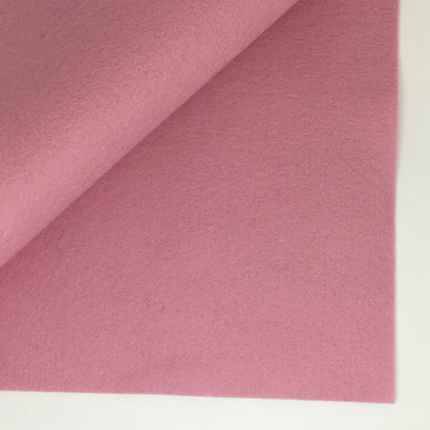 Rose Quartz 100% Wool Felt - 8x12""