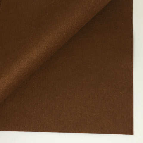Brown 100% Wool Felt - 8x12""