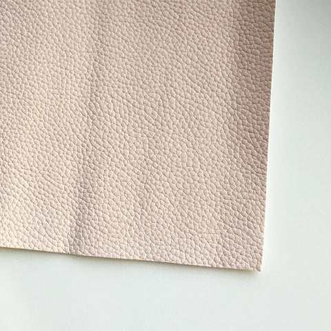Powder Pink Textured Faux Leather