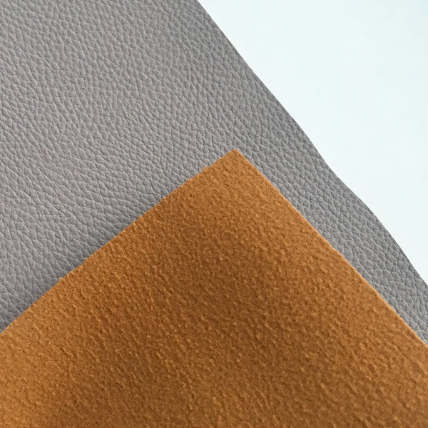 Pale Taupe Textured Faux Leather