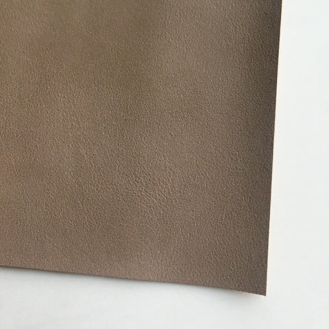 Taupe Smooth Vegan Faux Leather