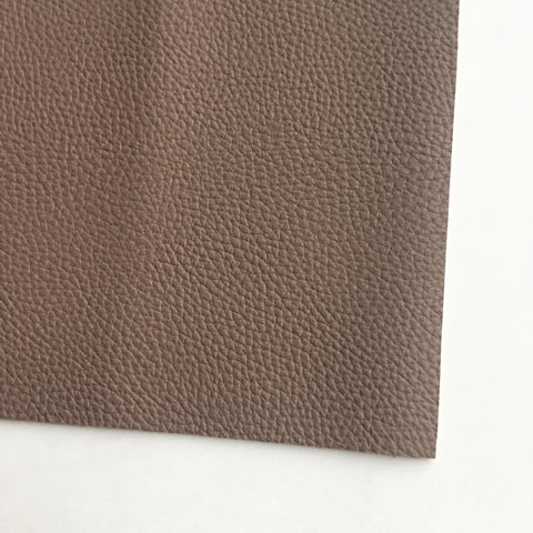 Deep Taupe Textured Faux Leather