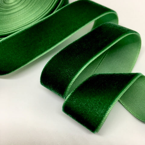 Evergreen Velvet Ribbon - 3/4 inch