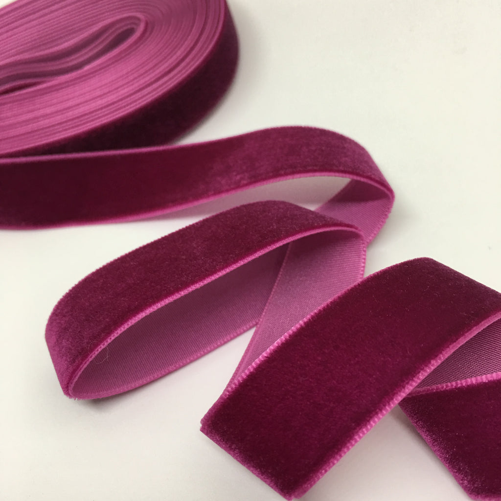 Berry Velvet Ribbon - 3/4 inch