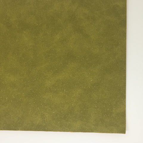 Olive Glitter Suede Vegan Faux Leather