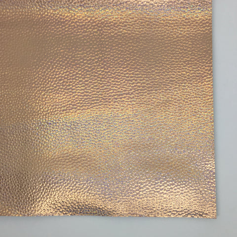 Rose Gold Opalescent Textured Faux Leather