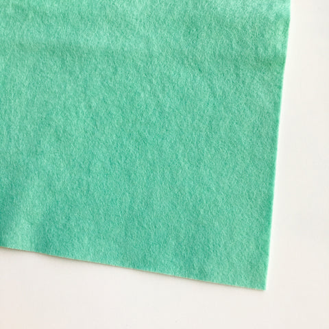 Soft Mint Wool Blend Felt