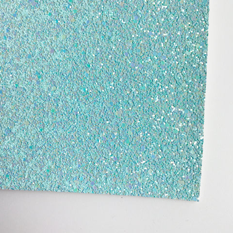 Pool Blue Shimmer Premium Glitter Fabric Sheet