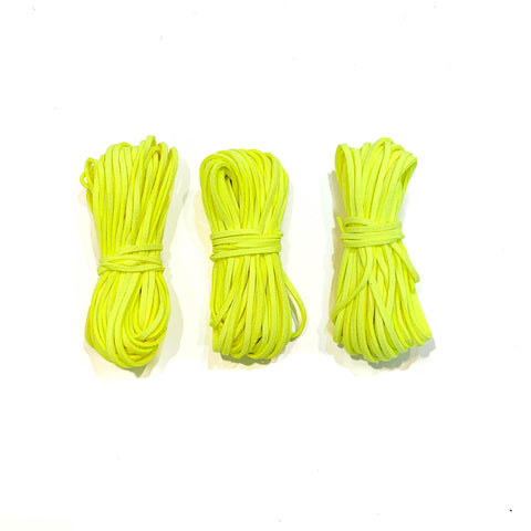 Neon Yellow Suede Cord