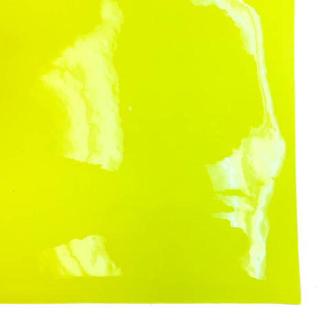 Neon Yellow Transparent Jelly Faux Leather