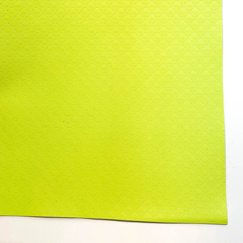 Neon Yellow Mermaid Scale Faux Leather