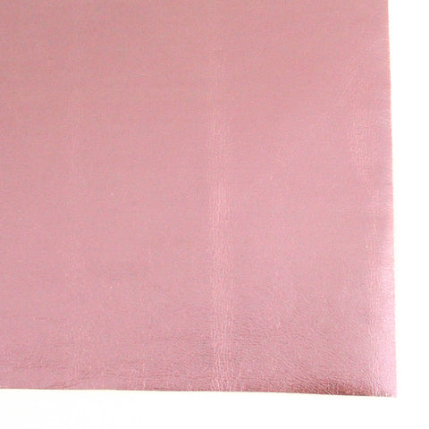 Pink Metallic Foil Smooth Faux Leather