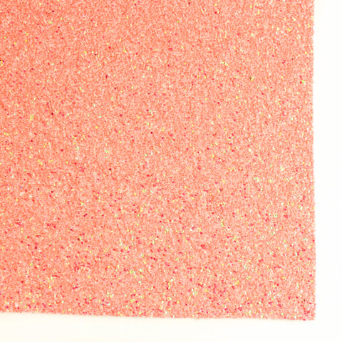 Living Coral Shimmer Premium Glitter Fabric Sheet