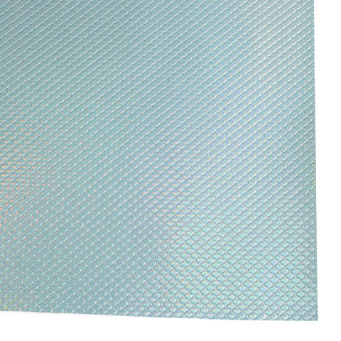 Aqua Metallic Mermaid Scale Faux Leather