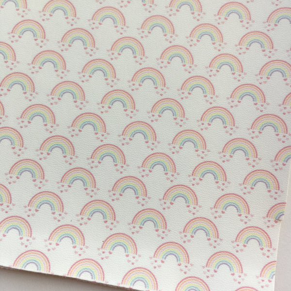 Somewhere Over The Rainbow Faux Leather