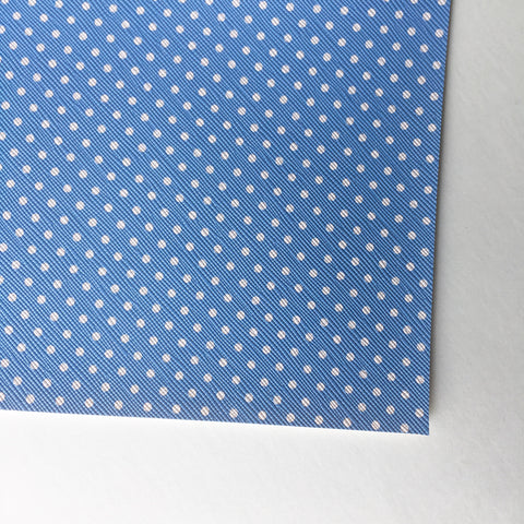 Baby Blue with White Polka Dot Faux Leather