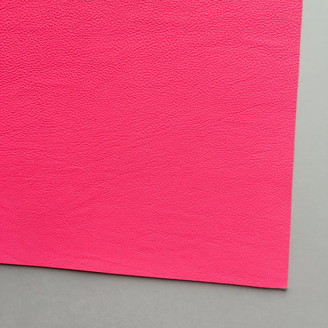 Neon Pink Vegan Faux Leather