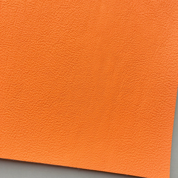 Neon Tangerine Vegan Faux Leather