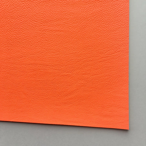Neon Orange Vegan Faux Leather