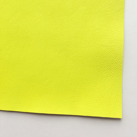 Neon Yellow Vegan Faux Leather