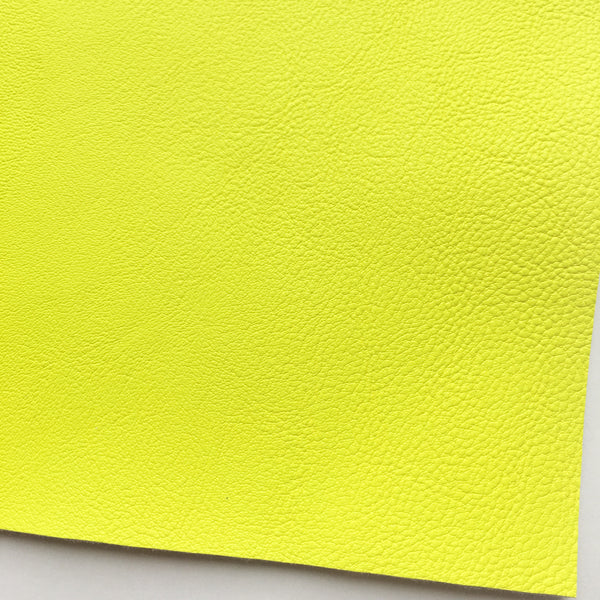 Neon Lemon Vegan Faux Leather