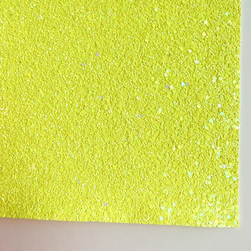 Caution Premium Glitter Fabric Sheet