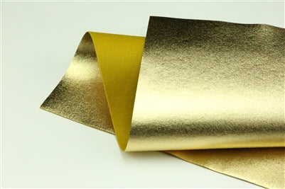 Gold Metallic 100% Wool Felt - 9.5x12""