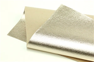 Light Gold Metallic 100% Wool Felt - 9.5x12""