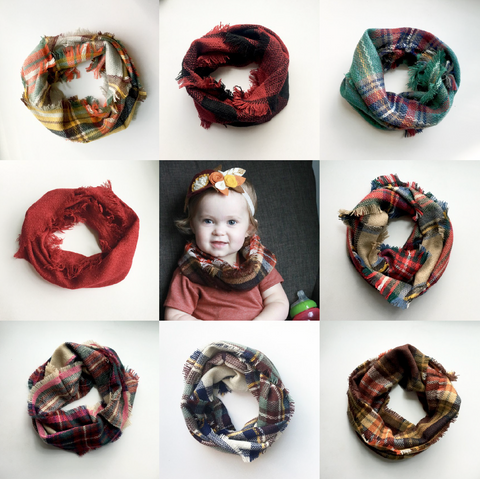Toddler & Kid Blanket Scarves