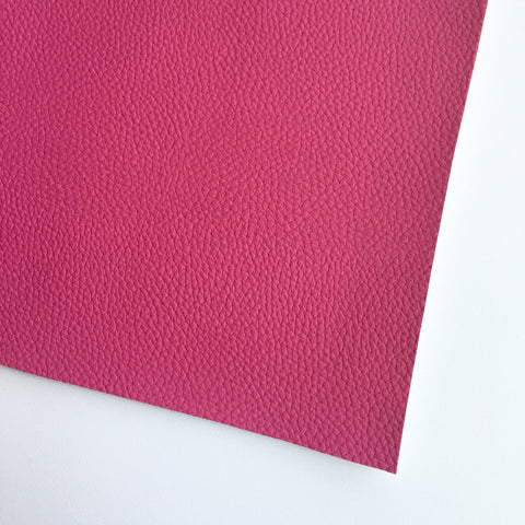 Dark Pink Textured Faux Leather
