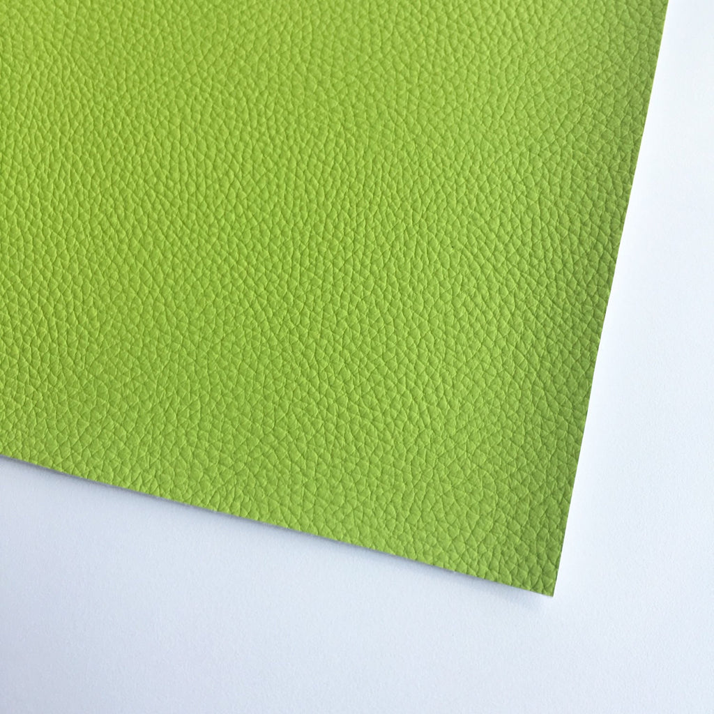 Lime Green Textured Faux Leather