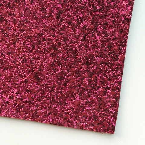 Rose Matte Glitter Fabric Sheet
